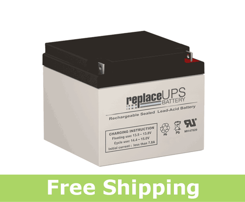 Raion Power RG12260FP 12 Volt 26 Amp Hour NB Battery (Replacement)