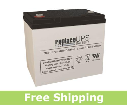 Raion Power RG12550I4 12 Volt 55 Amp Hour IT Battery (Replacement)