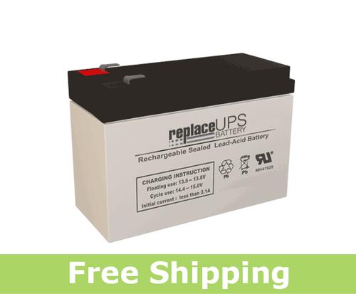 Raion Power RG1280T2 12 Volt 7 Amp Hour T2 Battery (Replacement)