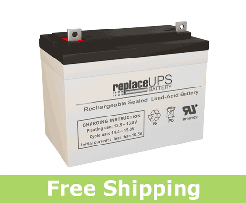 Raion Power RG12350FP 12 Volt 35 Amp Hour NB Battery (Replacement)