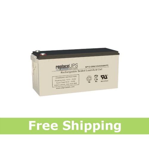 MasterSafe by Ritar RA12-200D 12V 200AH Replacement Battery