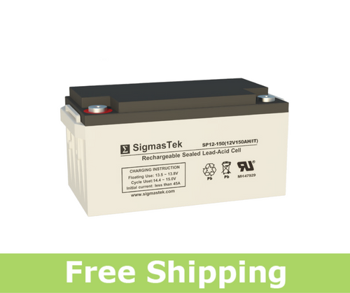 Vision 6FM150-X Replacement Battery