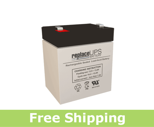 Enduring 6-DW-5 12 Volt 5 Amp Hour (F1/T1) Battery (Replacement)