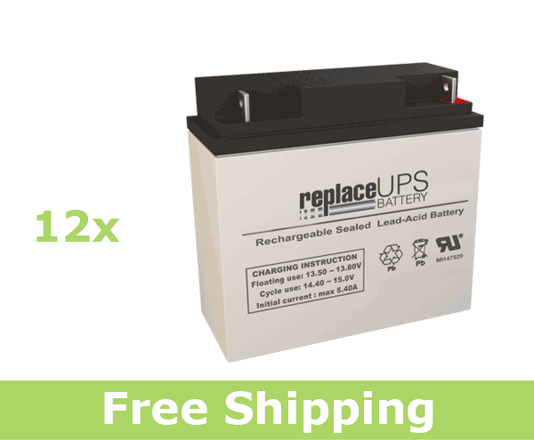 Alpha Technologies CFR 10K (017-083-XX) - UPS Battery Set