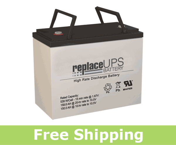 Power Battery PRC-12150C High Rate Replacement Battery