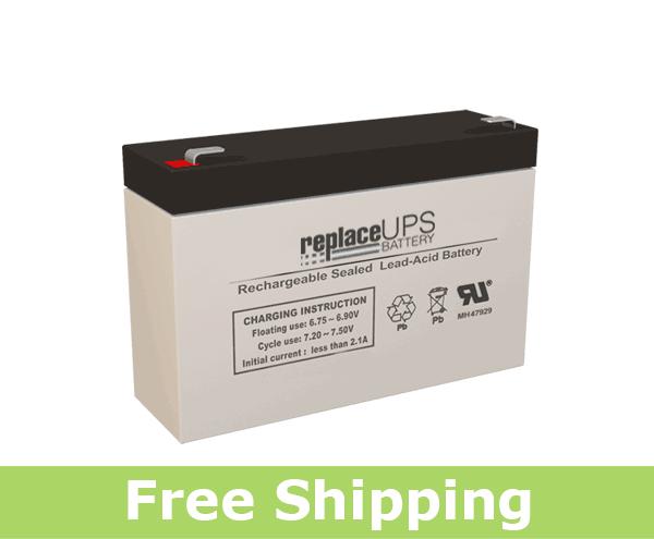 Raion Power RG0670T1 6 Volt 7Amp Hour Battery (Replacement)