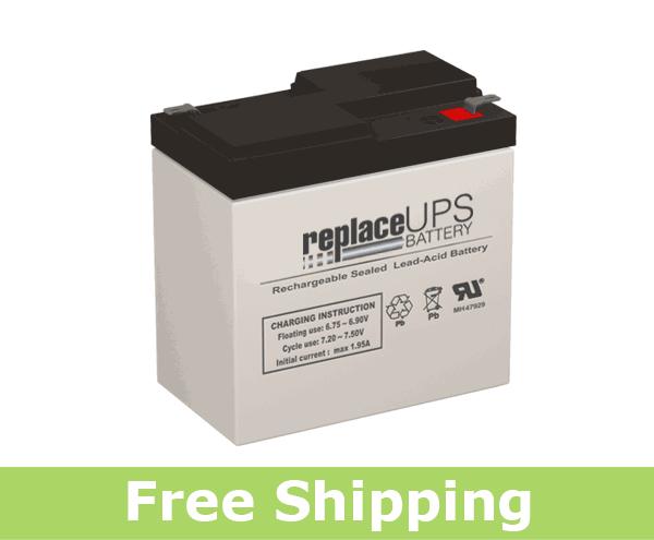 LightAlarms 2DS6 - Emergency Lighting Battery