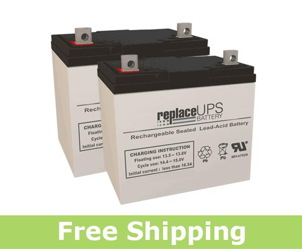 Invacare Nutron R51 - Wheelchair Battery Set