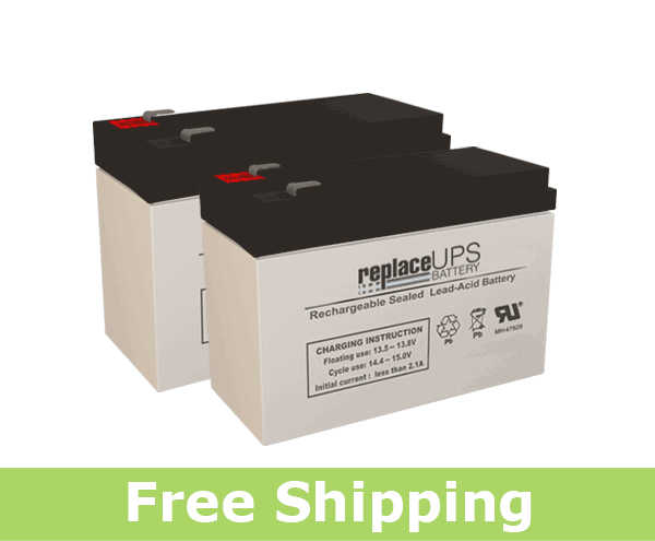 APC Back-UPS NS 1250 BN1250 Replacement Batteries (Set of 2)