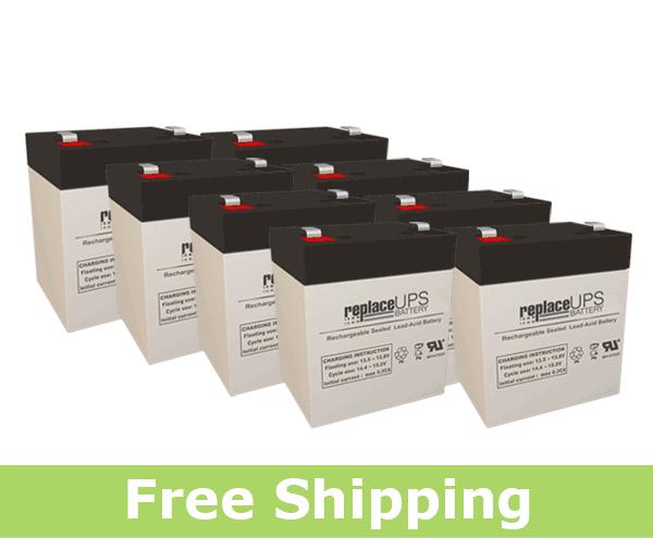 APC / Dell Smart-UPS 3000 (DLA3000RMI2U) Replacement Batteries (Set of 8)