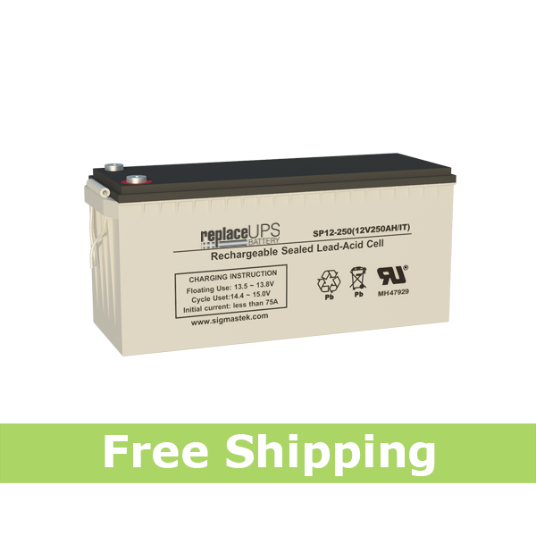 MasterSafe by Ritar RA12-245D 12V 250AH Replacement Battery