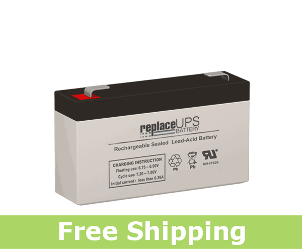 Enduring CB 1.3-6 SLA (F1/T1) 6 Volt 1.4 Amp Hour Battery (Replacement)