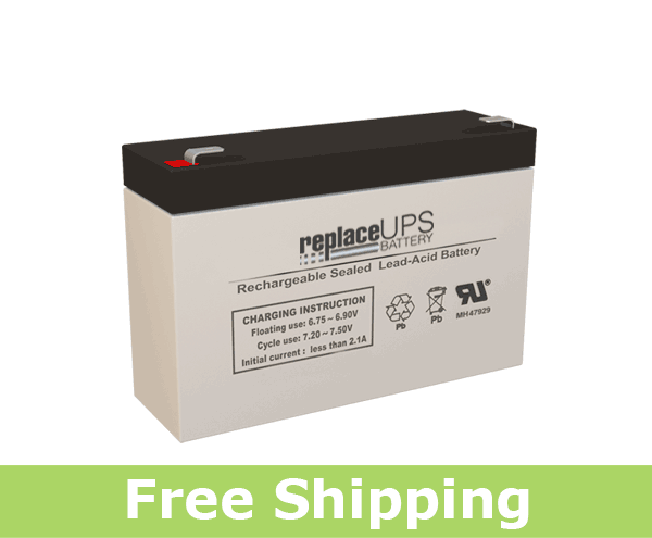 Enduring CB 7-6 SLA (F1/T1) 6 Volt 7 Amp Hour Battery (Replacement)