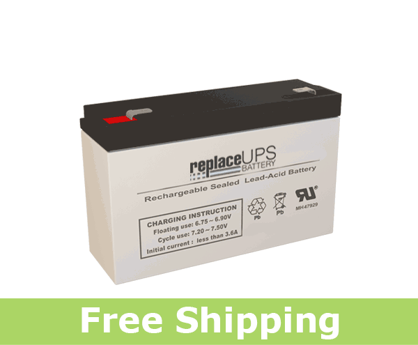 Huanyu HYS6100, 6 Volt 12 Amp Hour Battery (Replacement)