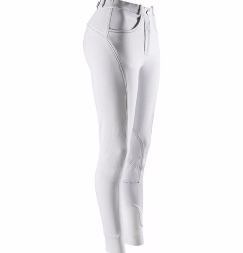 Equi-Theme Agatecool Women's Breeches with Knee Patches - White