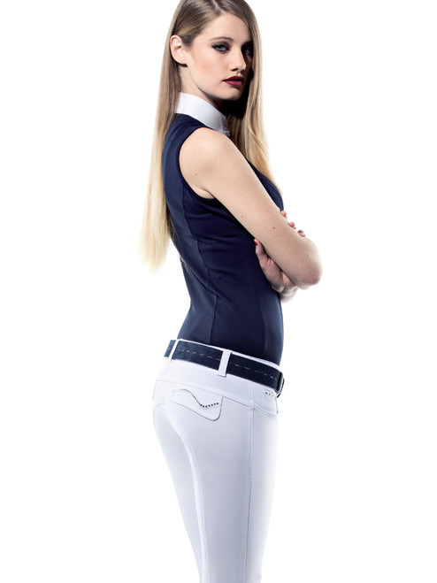 Animo Noodwill Women's Knee Grip Breeches - Bianco (White)