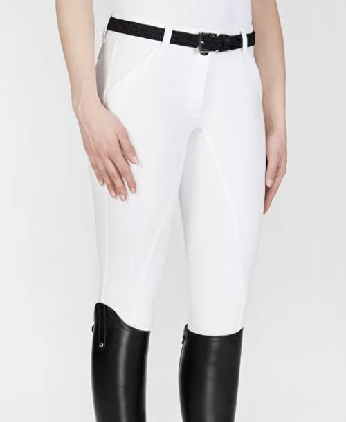 Equiline X Shape Women's Full Grip Breeches - White