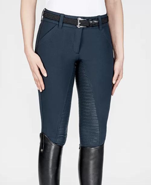 Equiline X Shape Women's Full Grip Breeches - Blue