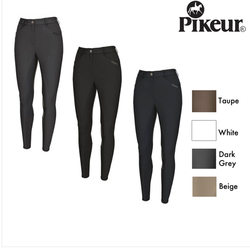 Pikeur Baila Women's Full Grip Breeches - White
