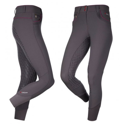 Le Mieux Engage Women's  Full Grip Breeches - Grey/Plum