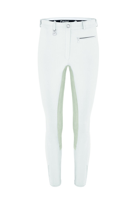 Pikeur Lugana Contrast Women's Breeches - White and Light Grey