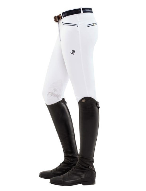 Spooks Ricarda Women's Knee Grip Breeches - white