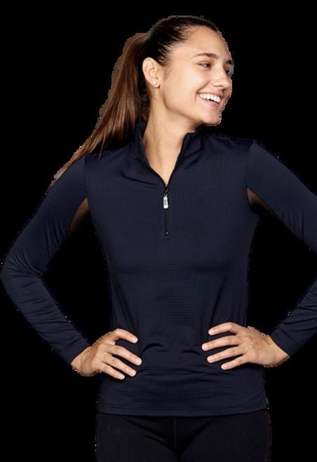 EIS Cool Women's Solid Long Sleeve Shirt - Black