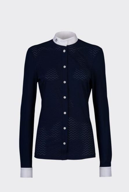 Cavalleria Toscana Perforated Wave Women's Long Sleeve Jersey Competition Shirt