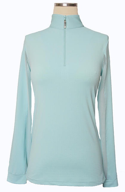 EIS Cool Women's Solid Long Sleeve Shirt - Seabreeze