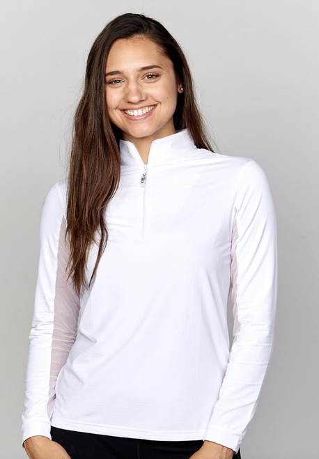EIS Cool Women's Solid Long Sleeve Shirt - White
