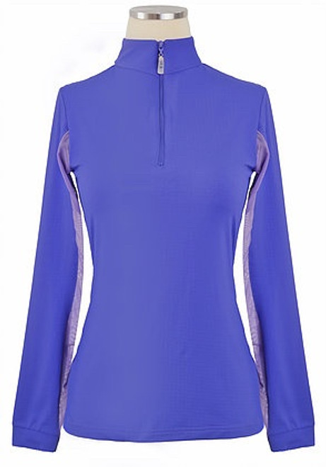 EIS Cool Women's Solid Long Sleeve Shirt - Iris