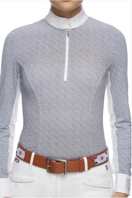 Emcee Pizazz Women's Long Sleeve Competition Shirt - Little Circles