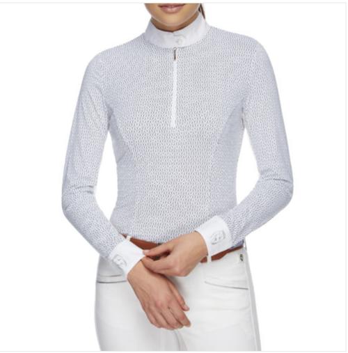 Emcee Pizazz Women's Long Sleeve Competition Shirt - Arrow Print