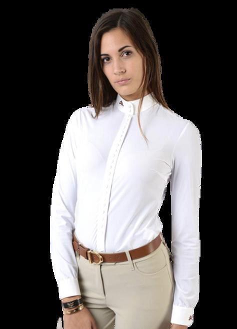 """Makebe Dafne """"A Thousand Buttons"""" Women's Long Sleeve Shirt"""