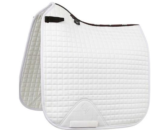 Le Mieux Suede Square Dressage Saddle Pad - White