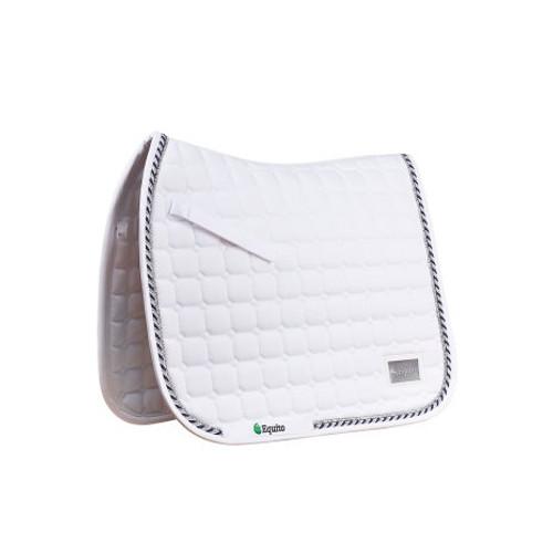 Equito Dressage Saddle Pad - White Silver / Full