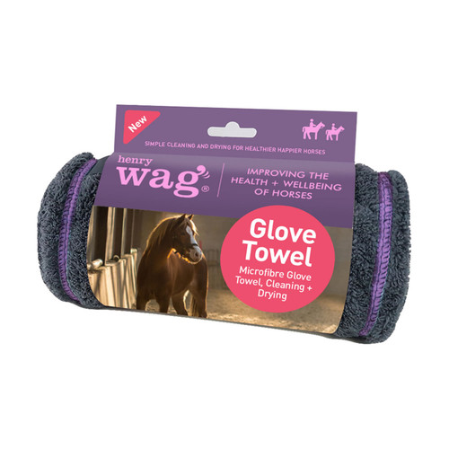 Henry Wag Equine Microfibre Glove Towel
