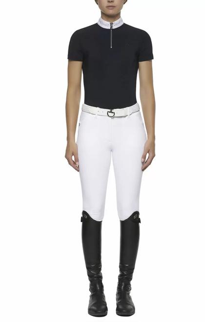 Cavalleria Toscana Japanese Scallop S/S Compeititon Zip Shirt
