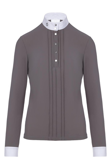 Cavalleria Toscana Pleated L/S Jersey Competition Shirt