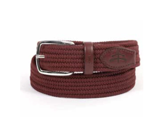 Makebe Unisex Elastic Belt - Bordeaux