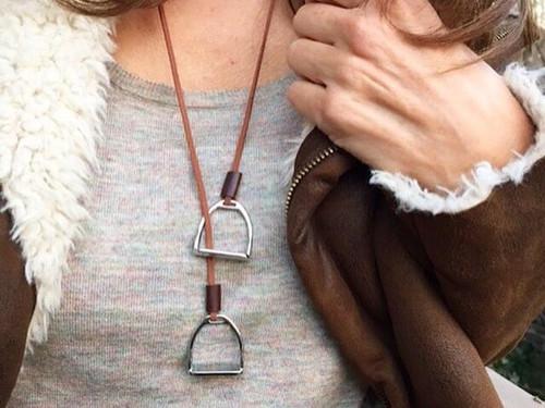 Ideana Double Horse Stirrup Necklace