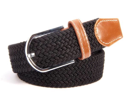 Ideana Elasticated Belt  with Silver Buckle and Stirrup