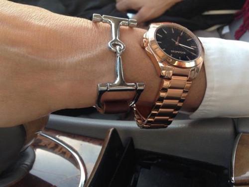 Ideana Handcrafted Leather Horse Snaffle Bit Bracelet