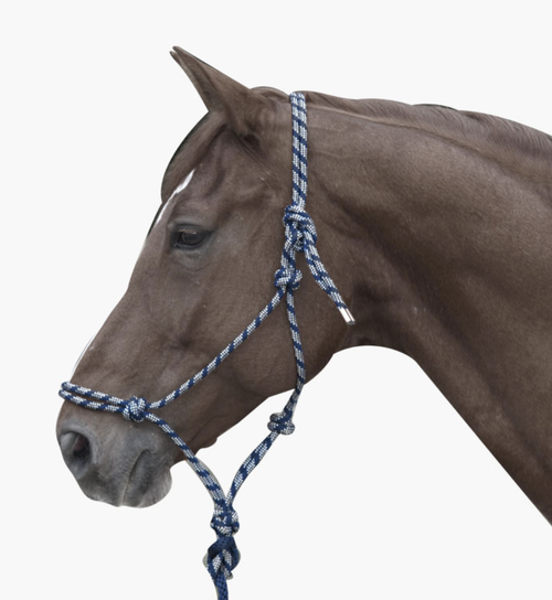 LamiCell Mountain Climbing Rope Halter - Navy/Grey - Full