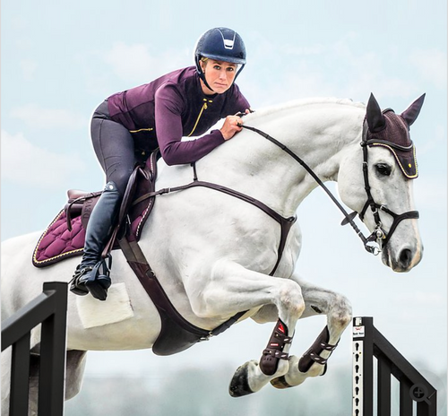 PS of Sweden Jump Saddle Pad - Wine