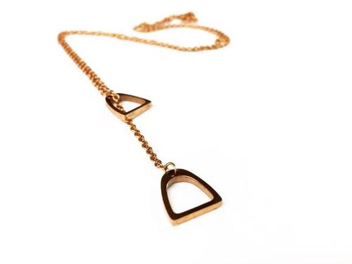 Ideana Double Stirrup Necklace