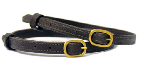Stubben Spur Straps/ Leather/ Ebony/ Brass