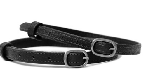Stubben Spurs Straps leather / Black/ Stainless Steel