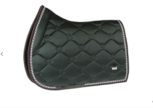 PS of Sweden SS2019 Saddle Pad Monogram Jump- Emerald