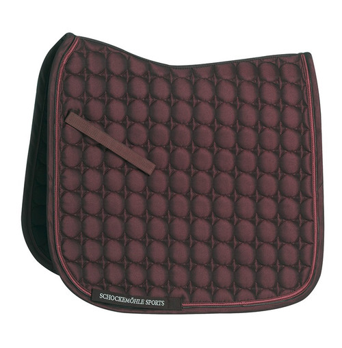 Schockemohle Glossy Power Pad Jump Set w/Fly Hood - Burgundy